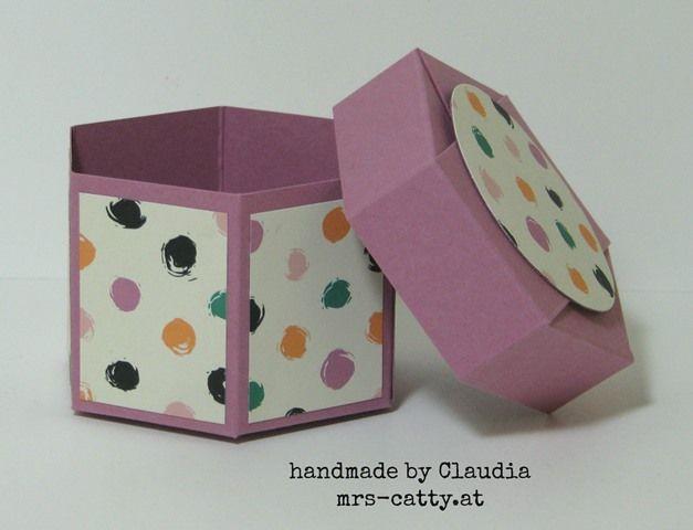 Anleitung Sechseckbox mit Deckel, Tutorial Hexagon Box with Lid, Stampin`Up!