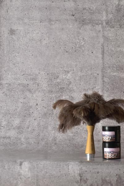 Concrete Smooth Wallpaper by WYNIL: easy interior design ideas for an architectural, industrial, pure look in your home or office.