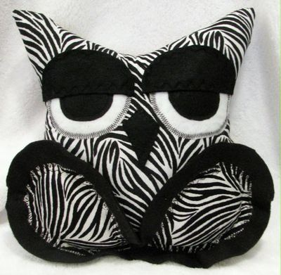 The Sleepy Owl™ Hand Crafted Black White Zebra Stripe Pillow