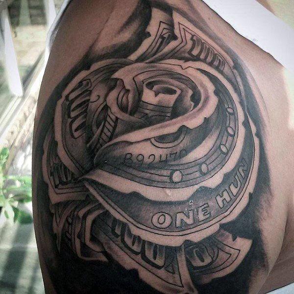 20 best Dollar Bill Tattoo Stencil images on Pinterest ...