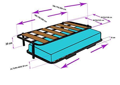 Cama Nido con 2 somier somieres lama ancha reforzada + patas. Varias medidas.- 90×190 - http://vivahogar.net/oferta/cama-nido-con-2-somier-somieres-lama-ancha-reforzada-patas-varias-medidas-90190/ -