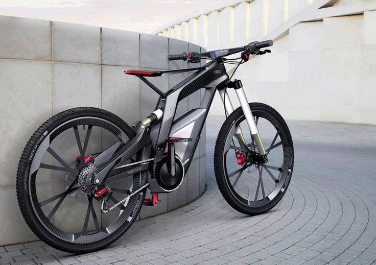 Audi e-bike - A bicycle that runs at 80 kmph.