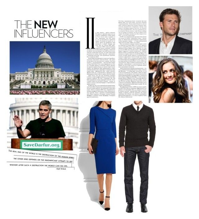 supporting her uncle as he makes a speech on Darfur at the nation's captiol by hrhprincessjuliet on Polyvore featuring polyvore fashion style Roland Mouret Dsquared2 George clothing