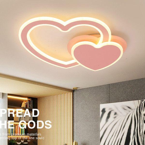 Romantic Bedroom False Bedroom Heart Ceiling Design