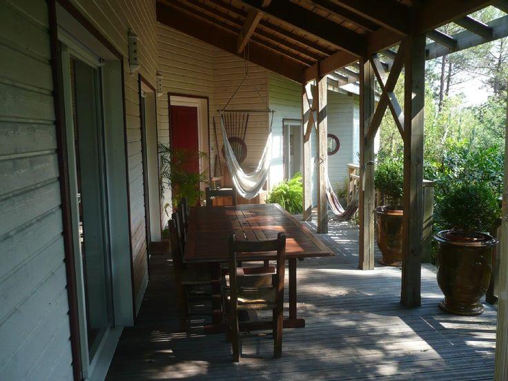 Location vacances villa Biscarrosse: La grande terrrasse à vivre
