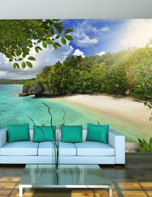 Carta da Parati Spiaggia e Isola  Carta da Parati Fotomurale Tema Paesaggi
