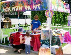 To organize a booth like this, first select a festival time when lots of kids…