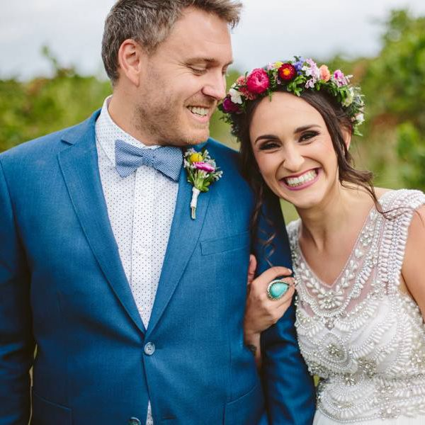 Lisa + Wayne // Colourful Wedding Flowers // Photography by Ginger & Mint Photography