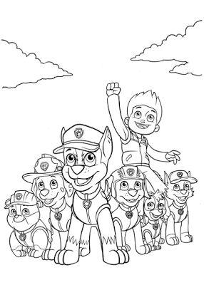 Aneka Gambar Mewarnai - Gambar Mewarnai Paw Patrol Untuk Anak PAUD dan TK.