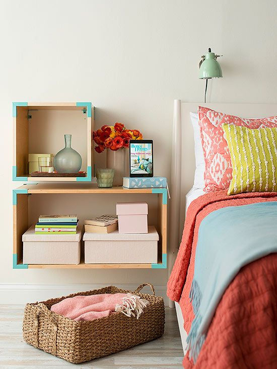 Custom Nightstand-Place a smaller cube above a larger one and you'll have a flat surface for bedside necessities.