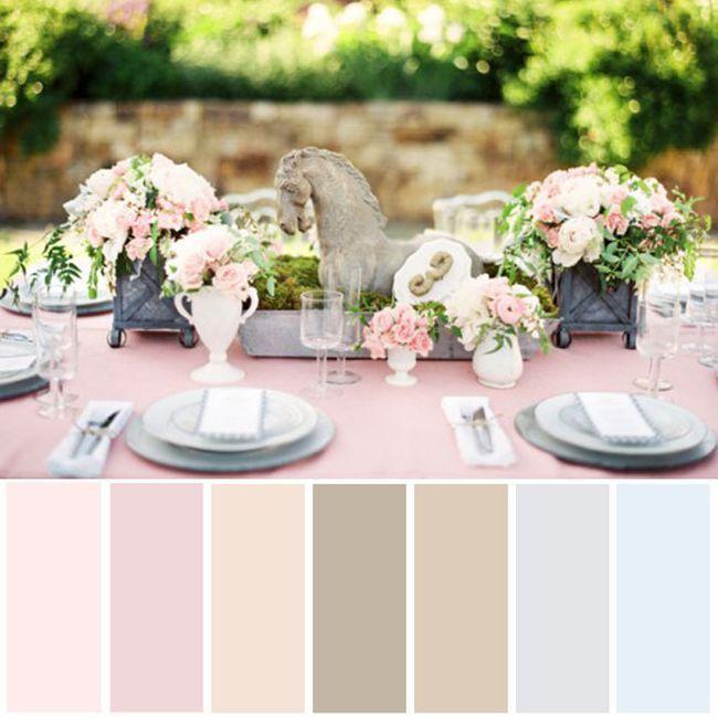 Vintage wedding color palette
