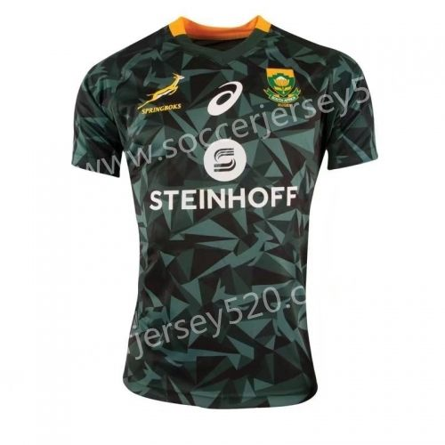 2018 19 South Africa Dark Green Rugby Shirt