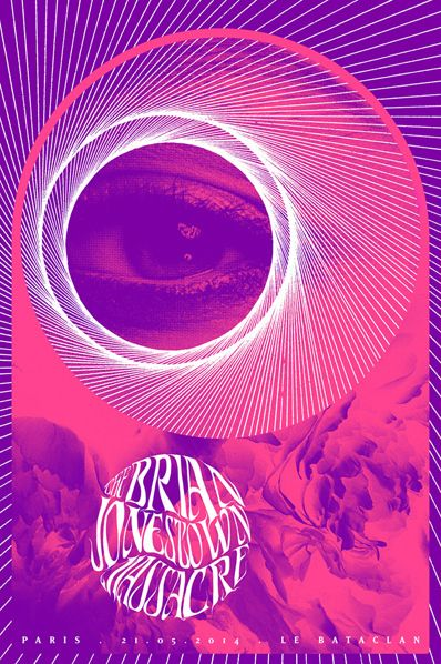 Concert poster for The Brian Jonestown Massacre by Synckop.