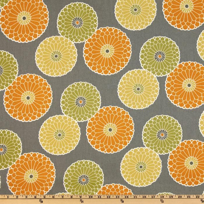 Richloom Indoor/Outdoor Springdale Graphite from @fabricdotcom  From Richloom Fabrics, this great indoor/outdoor fabric is mildew, stain and water resistant. It is perfect for outdoor settings and indoors in sunny rooms. It is fade resistant up to 500 hours of direct sun exposure. Create decorative toss pillows, chair pads, slipcovers, placemats, tote bags.  Colors include graphite, orange, sage and yellow.