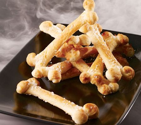 halloween bone breadsticks - Halloween Decorations Food