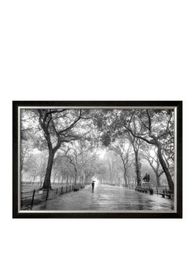 Art.com Assorted Poets Walk Central Park New York City Framed Art Print - Online Only