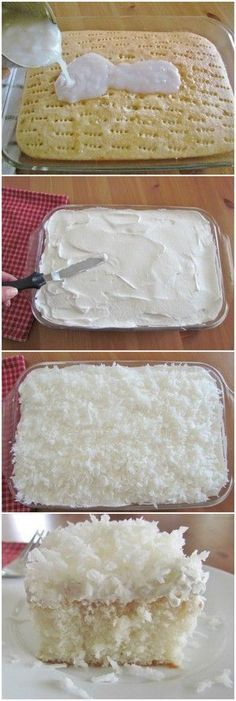 Coconut Cream Poke Cake recipe from The Country Cook. A moist and creamy coconut cake that will knock your socks off.