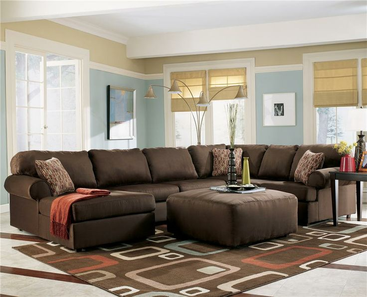 Image detail for -Brown Cafe Sectional Sofa with Chaise by Ashley | Furniture Review