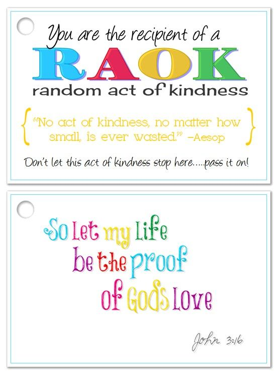 Random Acts of Kindness card | Random Acts of Kindness ...