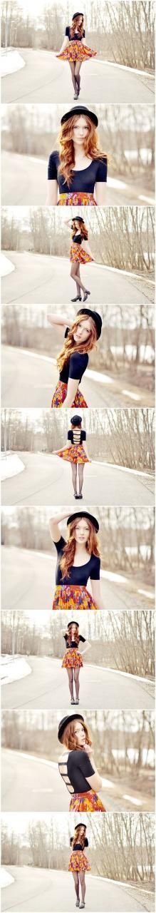 Fantastic series! Fashion inspired senior girl photography poses posing