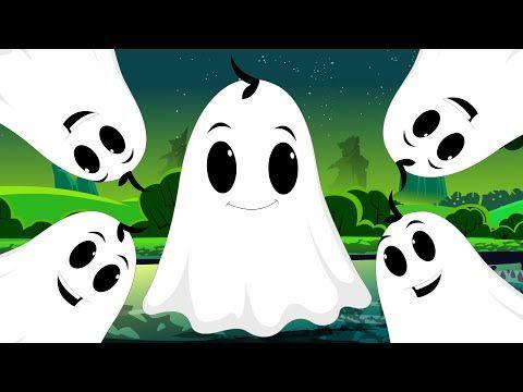 Five Naughty Ghosts | Halloween Nursery Rhyme Songs For Kids - YouTube