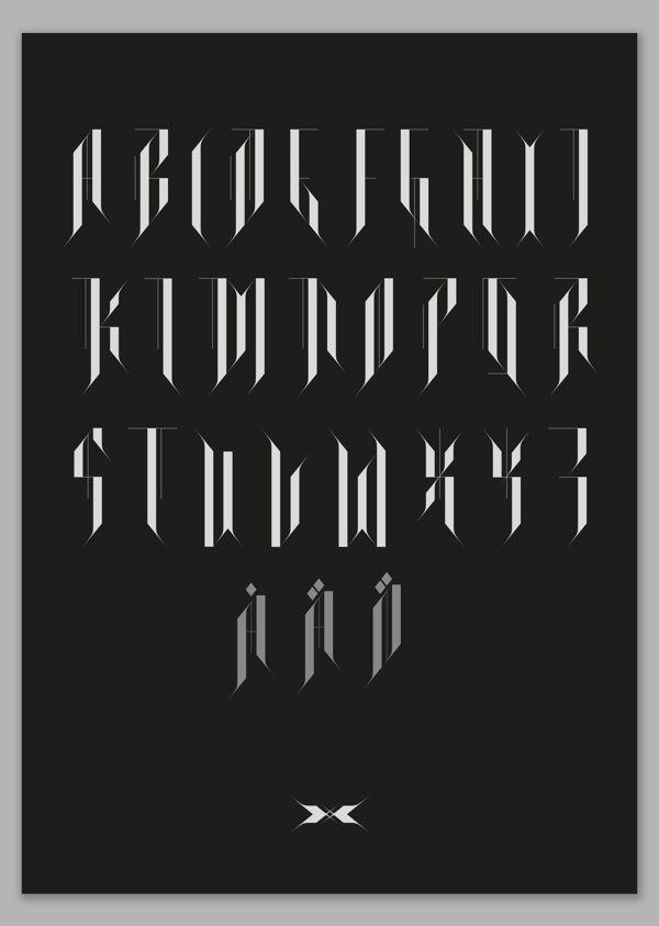 Schattentanz typeface by Björn Öberg, via Behance