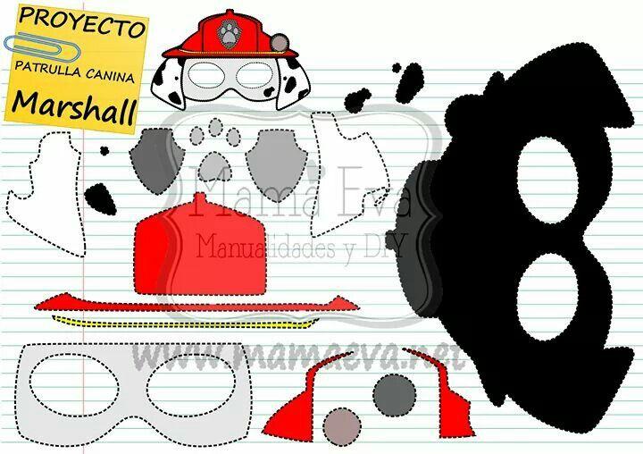 Disfraza a tus nenes con La Patrulla Canina. Tienes todas las máscaras en http://www.mamaeva.net