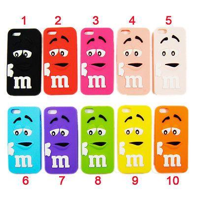 ★★★ Etui Coque HOUSSE iphone 4/4s & 5/5s -Bonbon M&M's N°4 3D mms Chocolat★★★