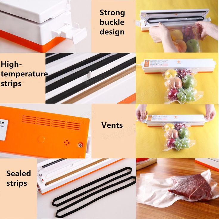 Automatic Electric Vacuum Sealer Foodsaver Storage Bags Kitchen Sealing Machine at Banggood