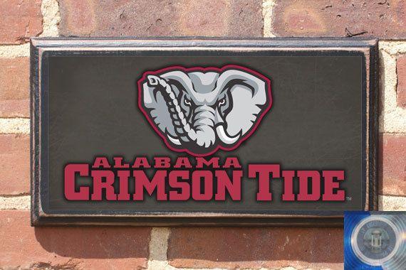 Alabama Crimson Tide Antiqued Vintage Style Plaque by CrestField