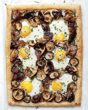 Shiitake and Egg TartTarts Recipe, Puff Pastries, Dinner Recipes, Eggs Tarts, Martha Stewart, Baking Eggs, Breakfast For Dinne Recipe, Food Recipe, Dinner Tonight