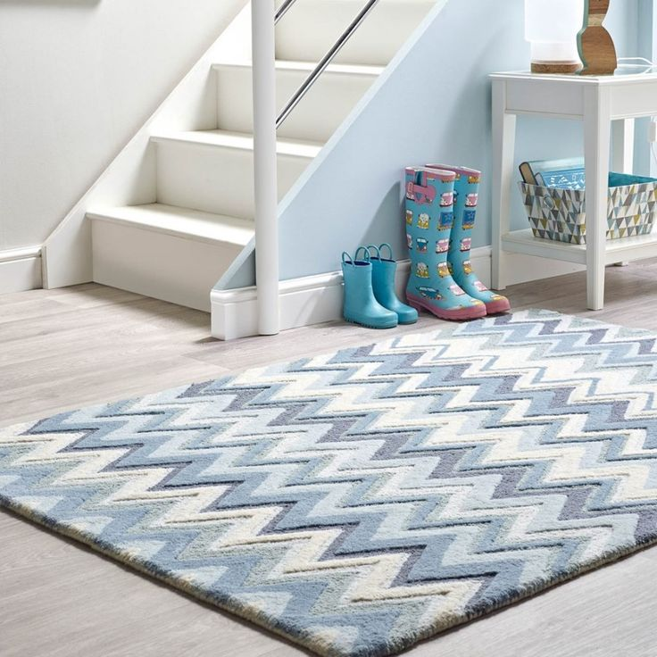 To spice up your interiors, Monaco Blue Wool Rug can be the perfect gateway. The beautiful geometric patterns, engulfed in beautiful colours creates an amazing flooring piece for your interiors. #RugGuruRugs #TheRugShopUK #GeometricPattern #NewArrival.