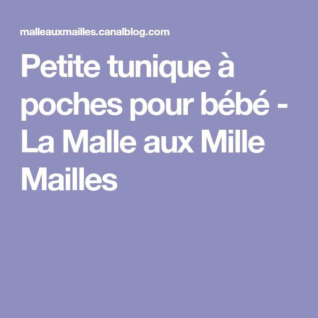 Petite tunique à poches pour bébé - La Malle aux Mille Mailles