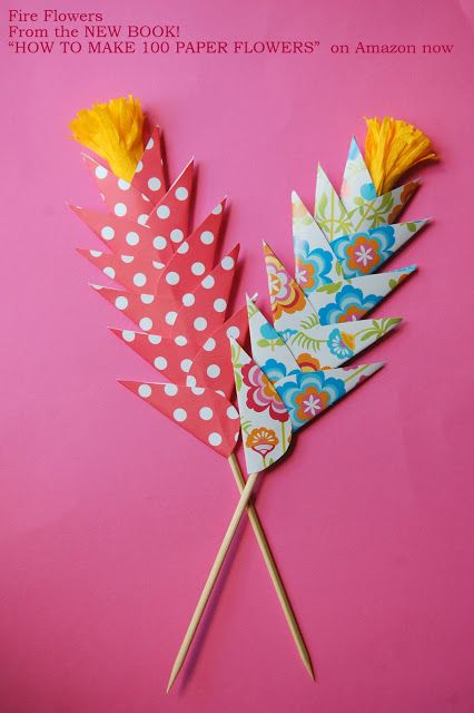 Easy Paper Flowers for Kids DIY Fire Flowers http://www.amazon.com/How-Make-100-Paper-Flowers/dp/158923751X from my new book!