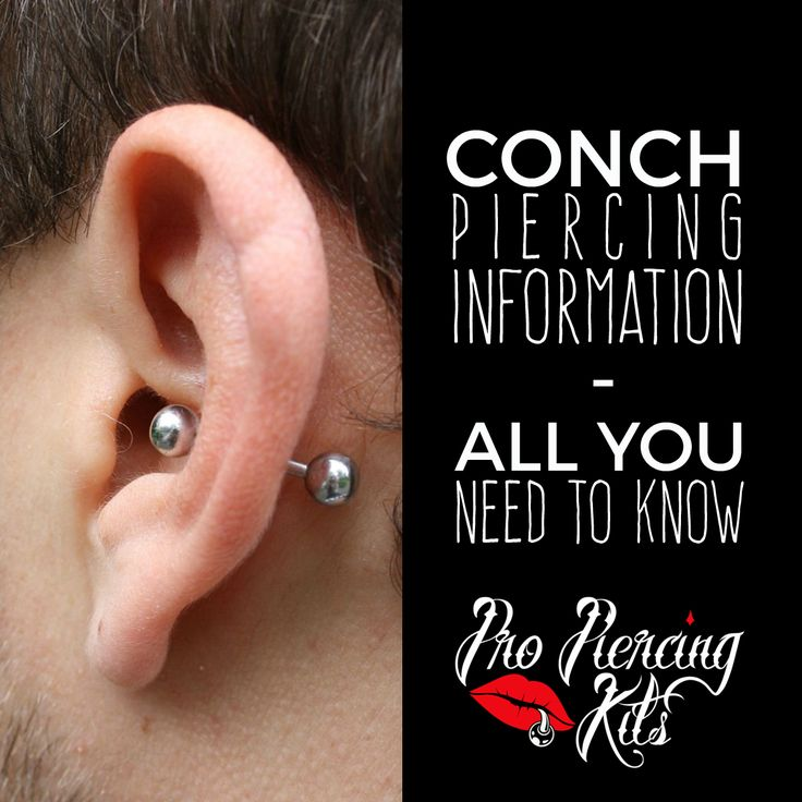 how to take out a conch piercing