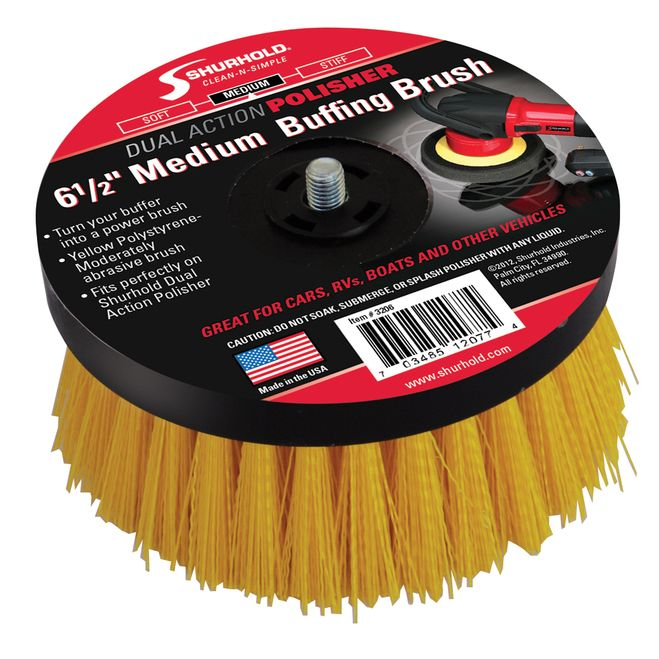 "Shurhold 6-1/2"""" Medium Brush f/Dual Action Polisher [3206]"