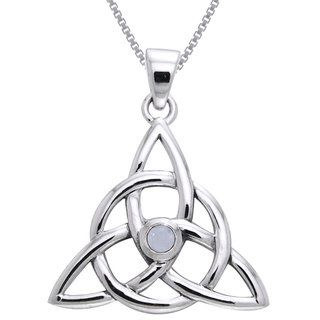 Shop for Carolina Glamour Collection Sterling Silver and Moonstone Celtic Triquetra Necklace. Free Shipping on orders over $45 at Overstock.com - Your Online Jewelry Destination! Get 5% in rewards with Club O!