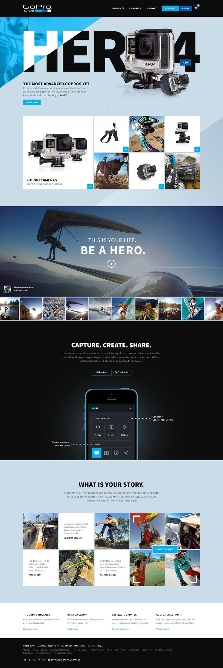 GoPro on Behance