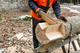 Chain saw carved wooden star 2