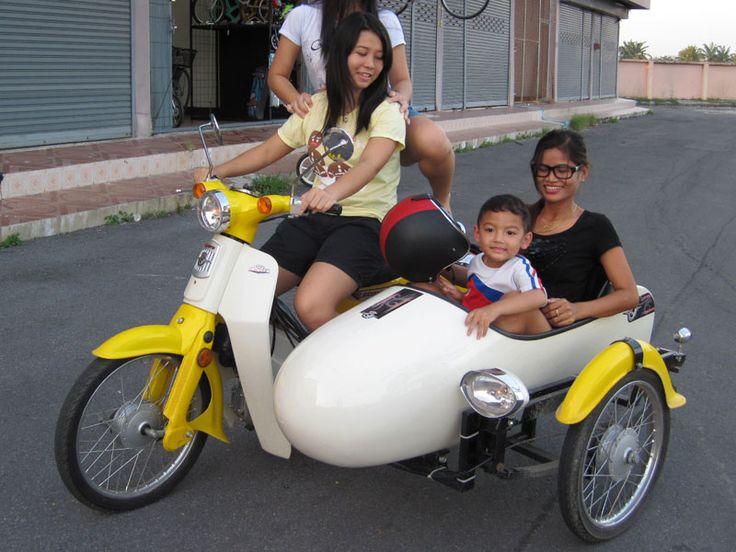 Honda Dn 01 >> We & Our Sidecar   MotorParade 'Me & My Bike'   Honda cub, Sidecar, Honda