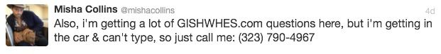 misha collins posted his (work) phone number on twitter :0 I'm freaking out.