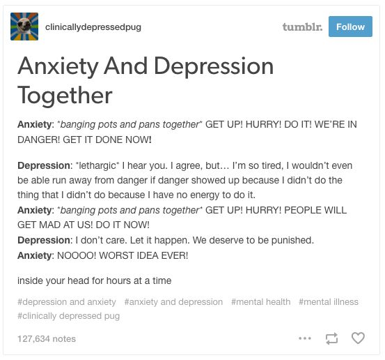 This peek inside your head: | 23 Times Tumblr Nailed Having Both Depression And Anxiety