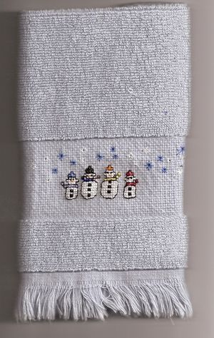Holiday Ideas - Combining Cross Stitch and Holiday Decorations and Celebrations: Finger Tip Towels
