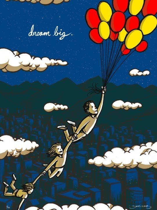 Dream Big by James Flames. Great art for kids rooms and the nursery.
