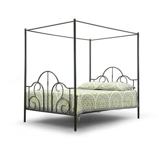 Baxton Studio Monticello Metal Contemporary Queen-Size Canopy Bed Frame  sc 1 st  Pinterest & Best 25+ Queen size canopy bed ideas on Pinterest | Queen canopy ...