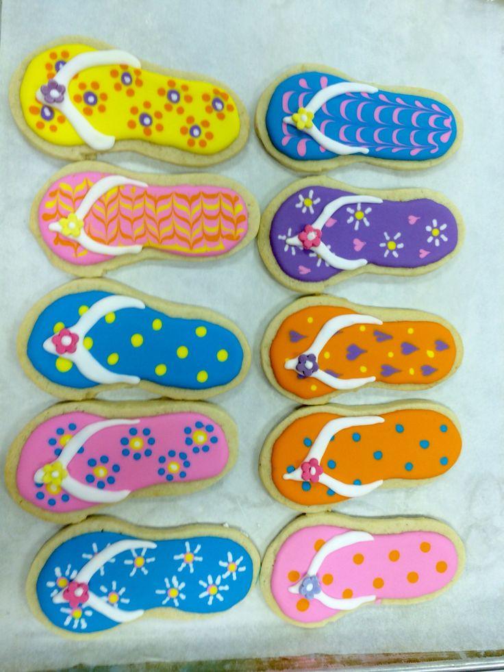Best 25 Flip flop cookie ideas on Pinterest Luau cookies