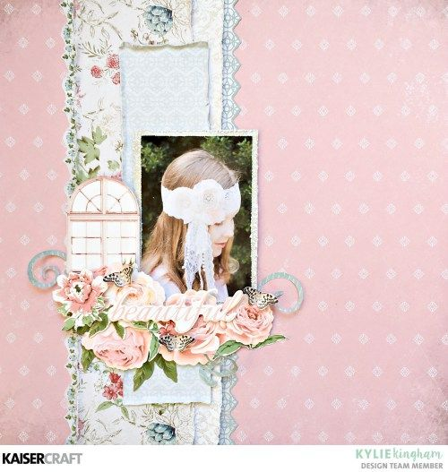Shabby Chic Layouts the Featuring Rose Avenue Collection