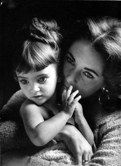 Elizabeth Taylor and daughter Liza Todd