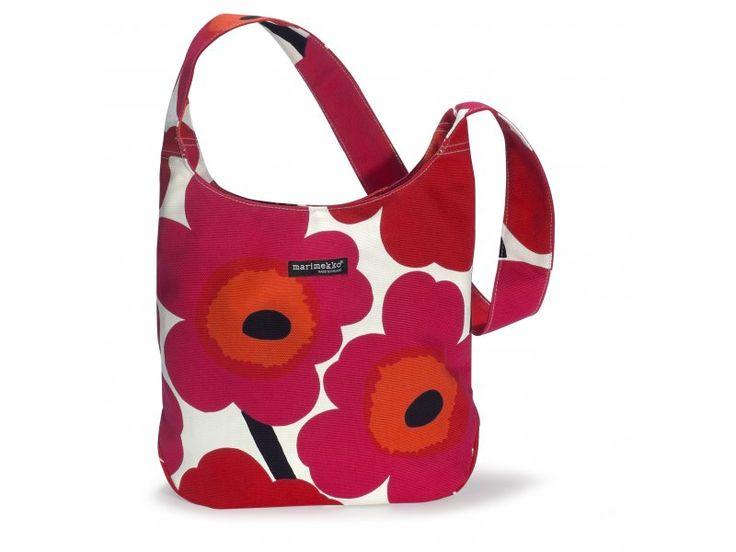 Marimekko - taška CLOVER  červeno bílá