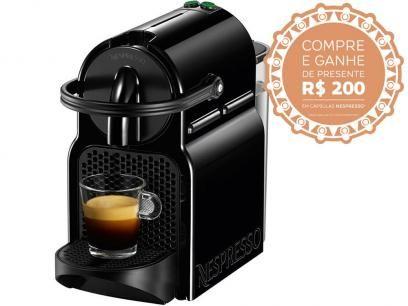 Cafeteira Espresso 19 Bar Nespresso Inissia - Preto com as melhores condições você encontra no Magazine Lojaslui. Confira!